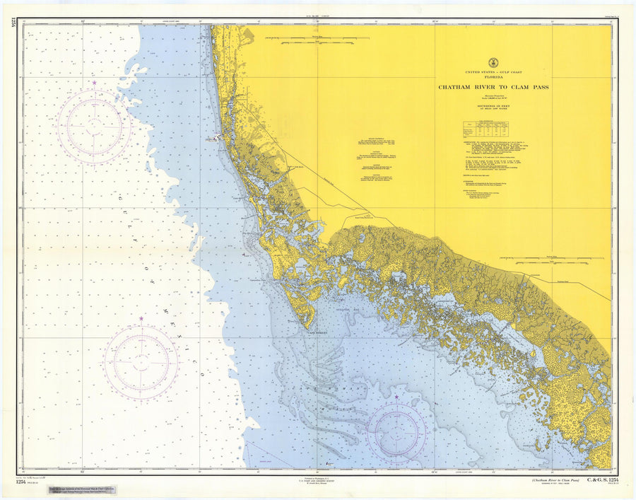 Chatham River to Clam Pass Map 1957