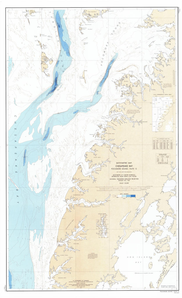 Chesapeake Bay Pocomoke Sound Bathymetric Map - PLATE 12