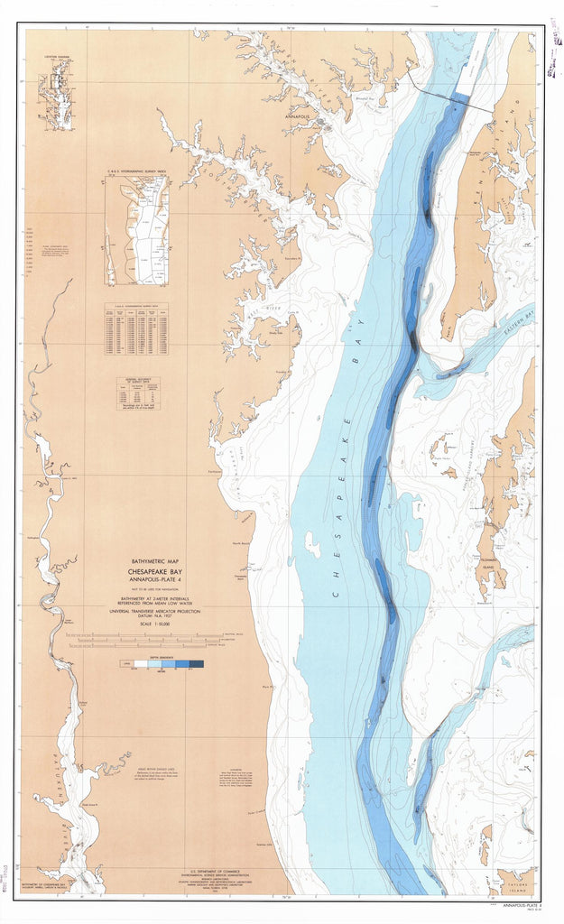 Chesapeake Bay Annapolis Bathymetric Map - PLATE 4