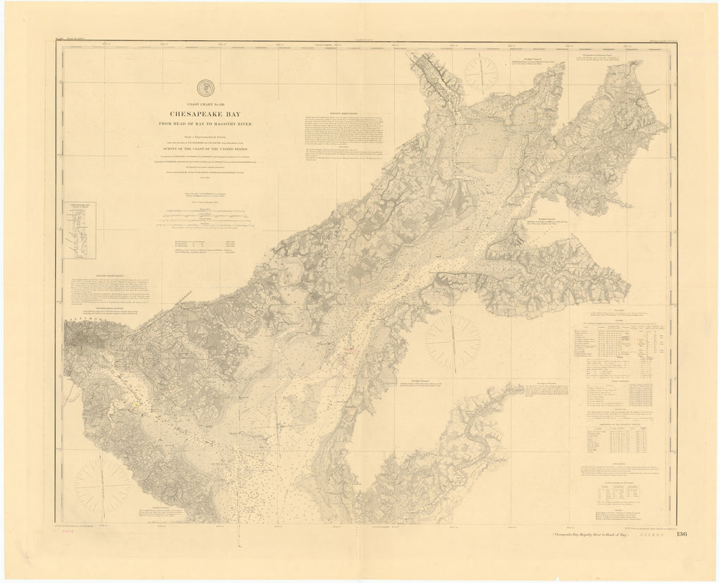 Chesapeake Bay & Magothy River Map 1877