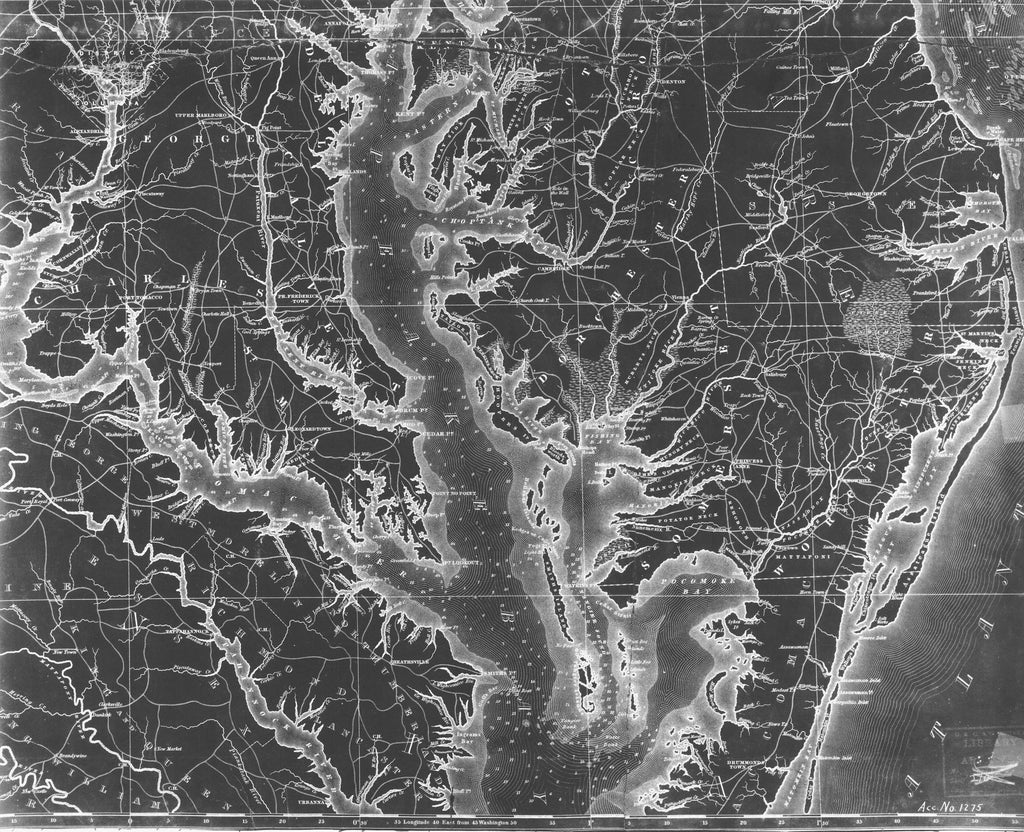 Chesapeake Bay Map Upper - 1840