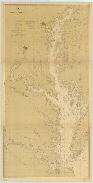 Chesapeake Bay Map - 1904