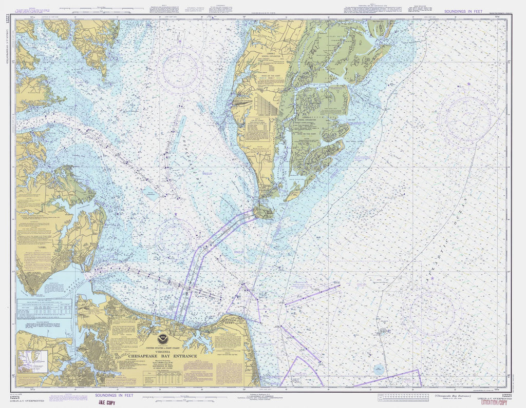 Chesapeake Bay Entrance Map 1978