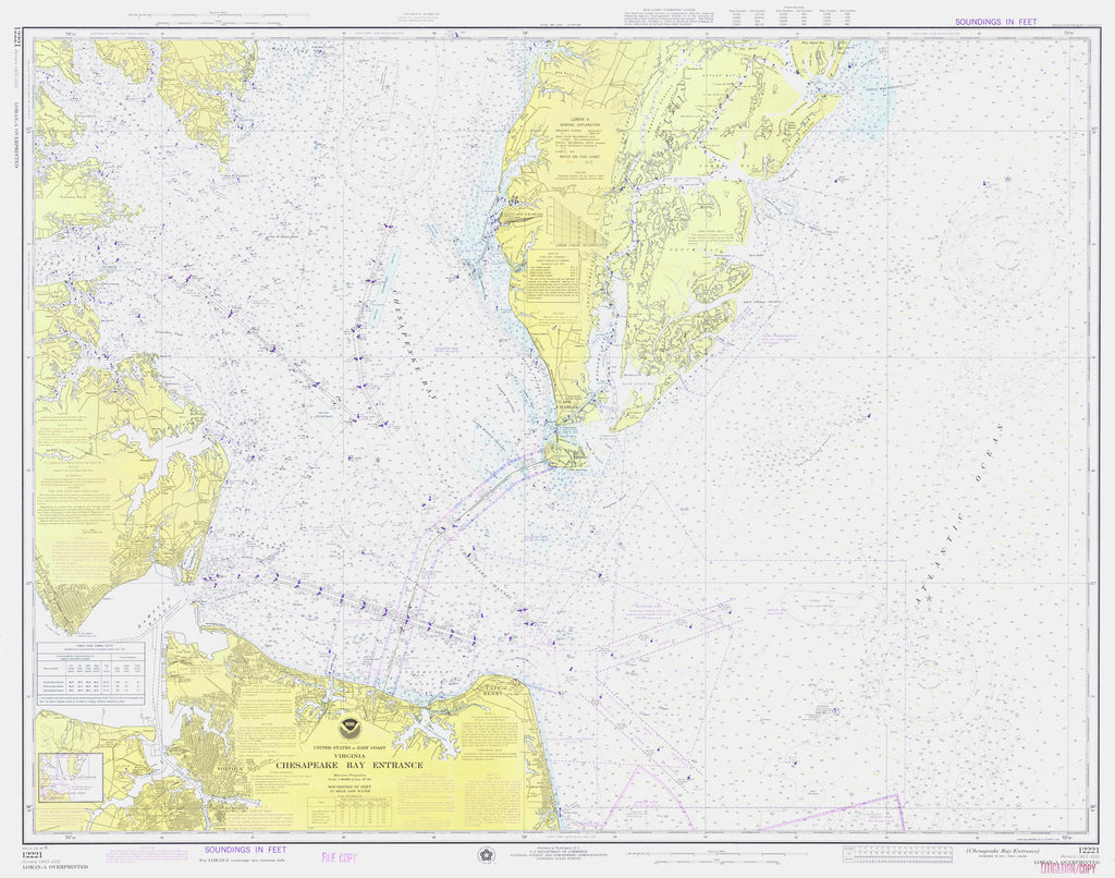 Chesapeake Bay Entrance Map 1975