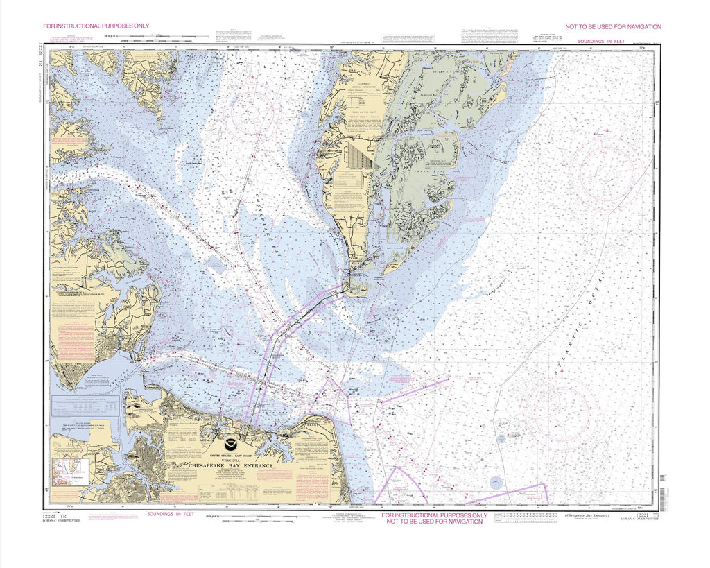 Chesapeake Bay Entrance Map 1992