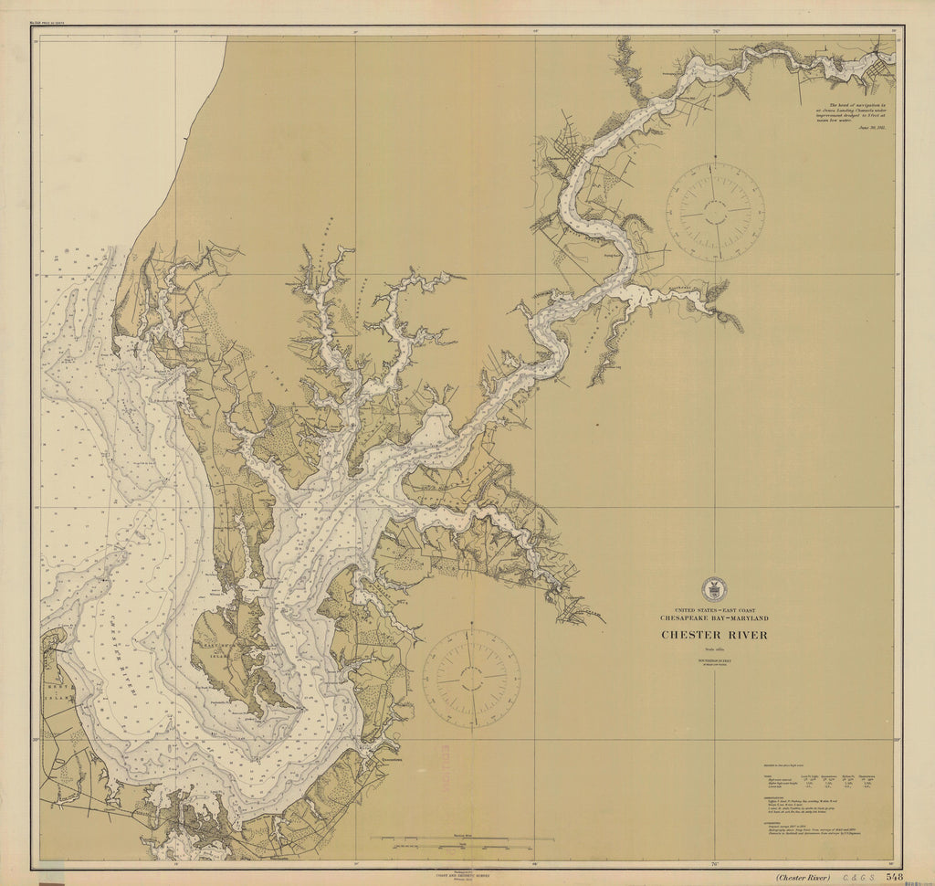 Chester River Map 1912
