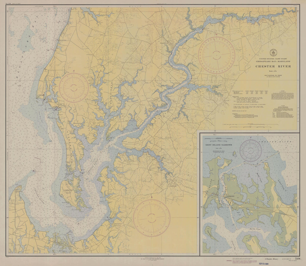 Chester River Map 1944