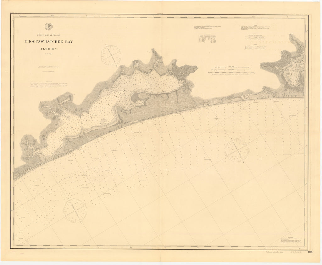 Choctawhatchee Bay Map 1886
