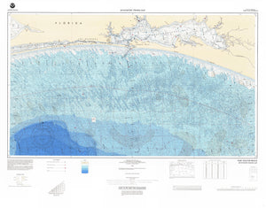 Choctawhatchee Bay Bathymetric Fishing Map F25