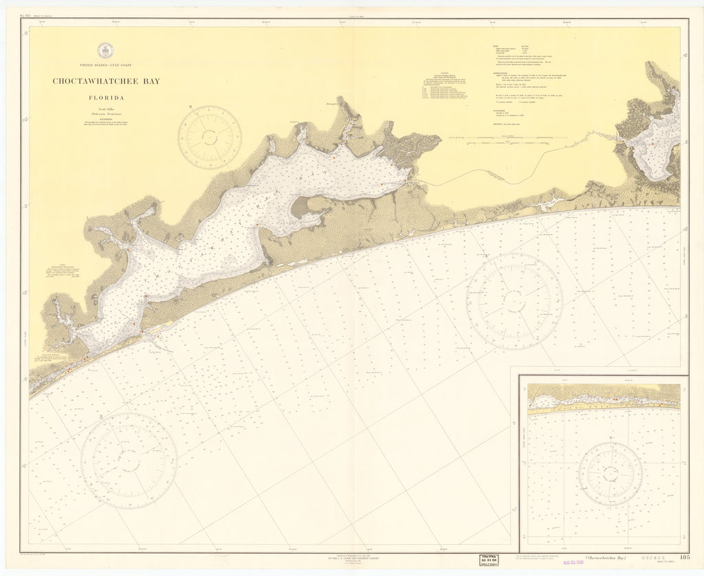 Choctawhatchee Bay Map 1938
