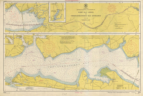 Choctawhatchee Bay Entrance - ICW Map