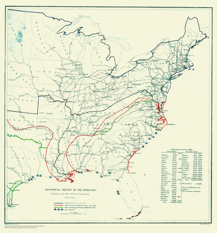Civil War Historical Map