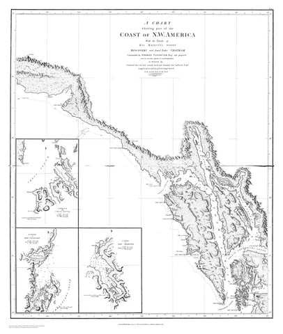 Coast of Northwestern America Chatham Strait Map