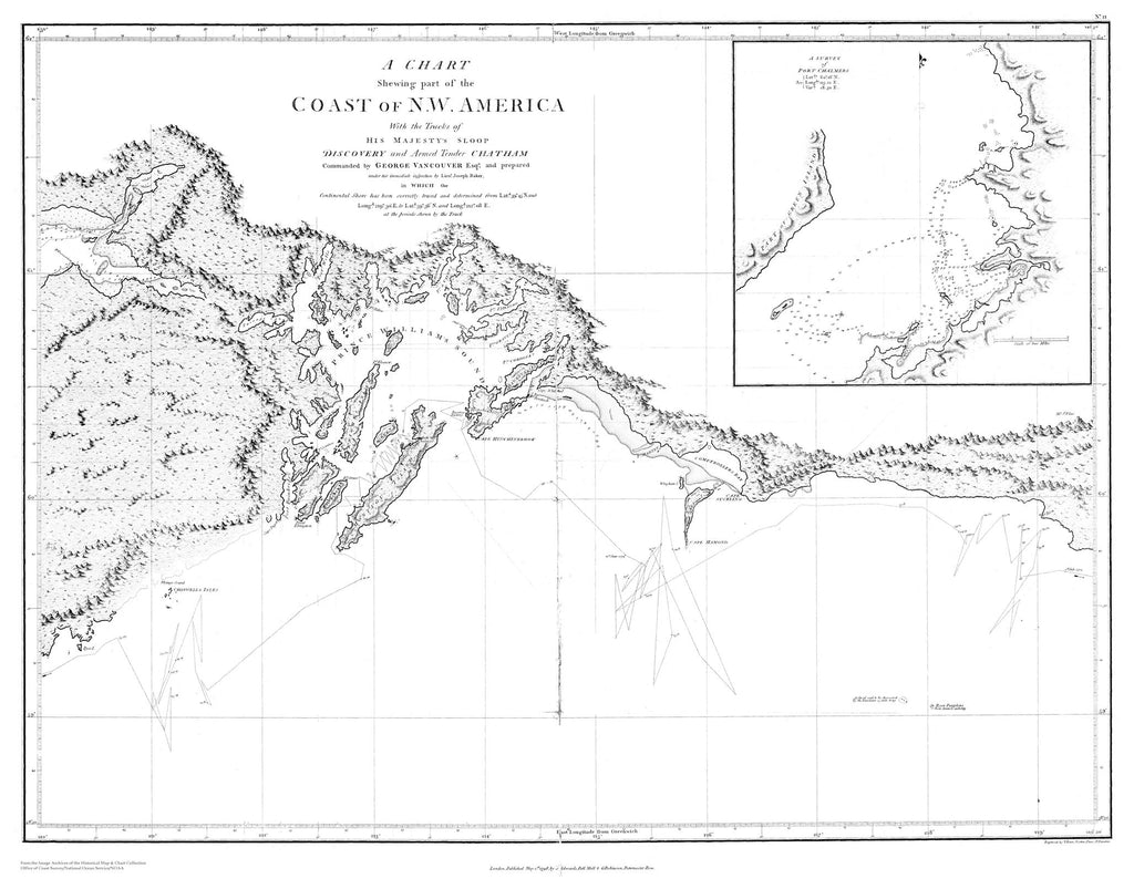 Coast of NW America - Prince William Sound Map