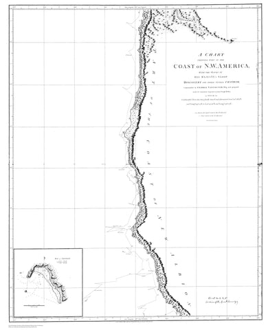 Coast of Northwestern America Map - 1798