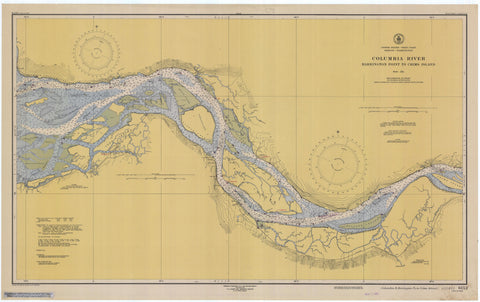 Columbia River Map - Barrington Point to Crims Island - 1948