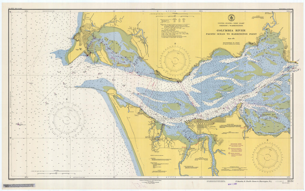 Columbia River Map - 1948