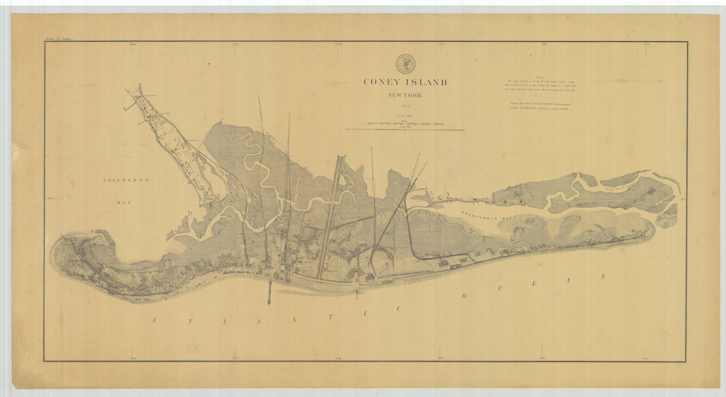 Coney Island Map - 1879
