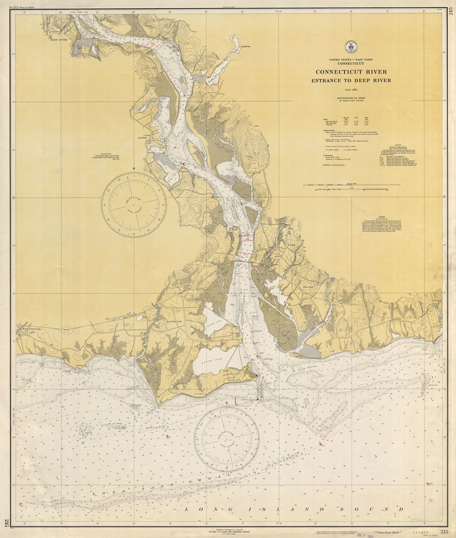 Connecticut River Historical Map 1937