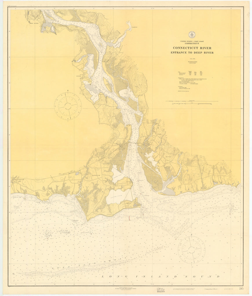 Connecticut River Historical Map 1917