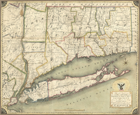 Connecticut and Long Island Map