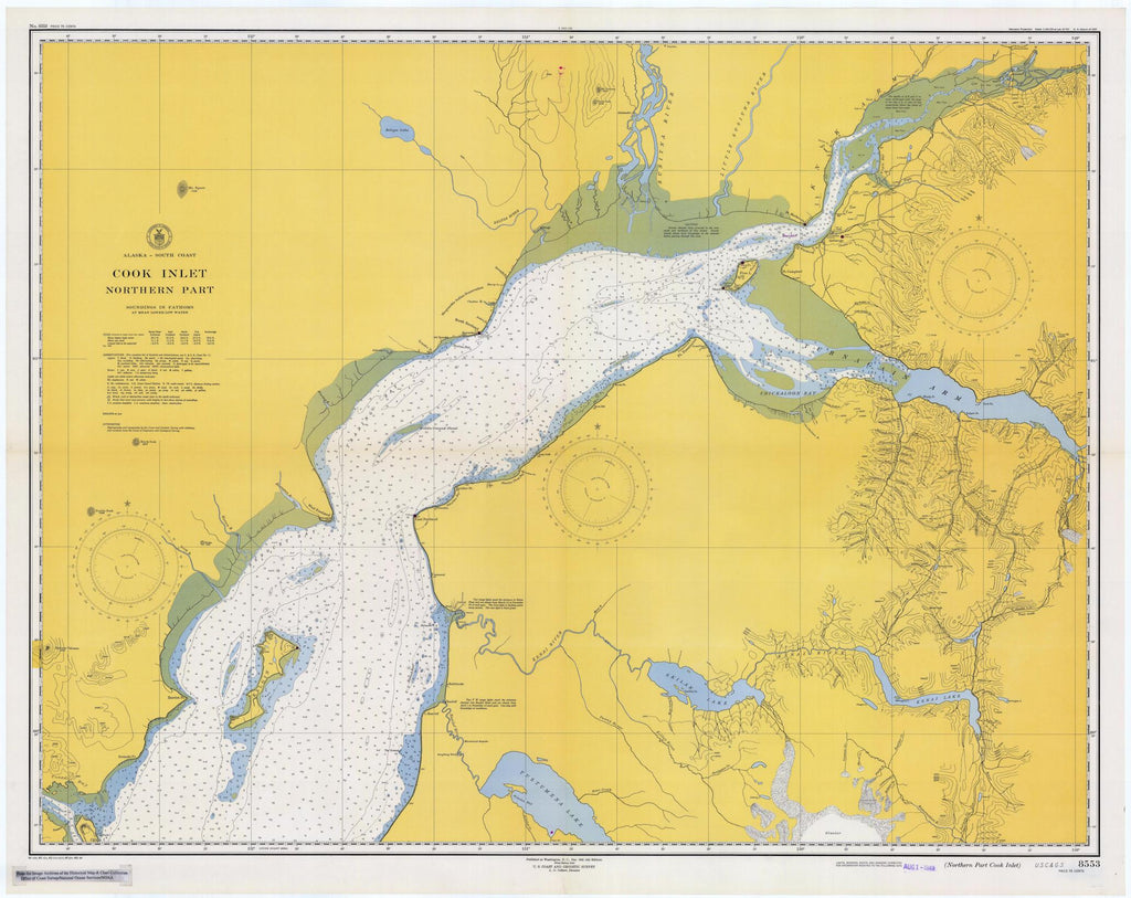 Cook Inlet - Alaska Map - 1949