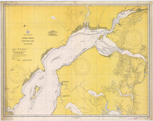 Cook Inlet - Alaska Map - 1941