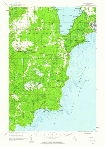 Cooks, Michigan Topographic Map - 1958