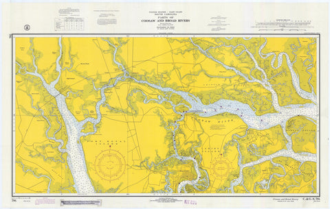 Coosaw and Broad Rivers Map - 1970