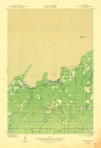 Cornucopia, Wisconsin Topographic Map - 1946