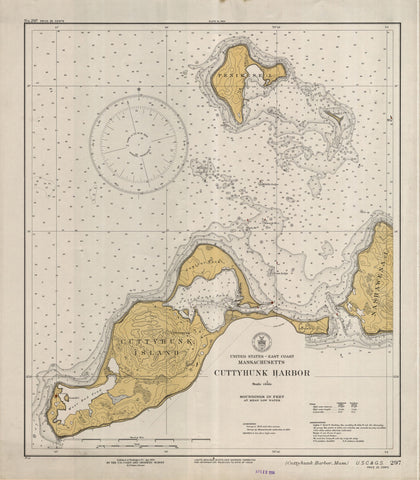 Cuttyhunk Map - 1934