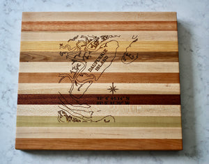Daufuskie Island Map Wooden Serving Board