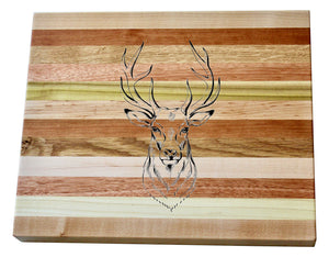 Deer Head Wooden Serving Board
