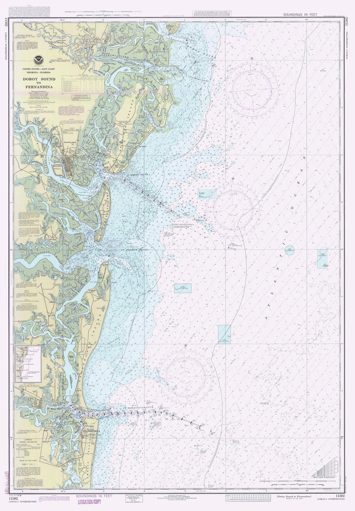 Doboy Sound to Fernandina Map 1990