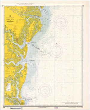 Doboy Sound to Fernandina Map 1968