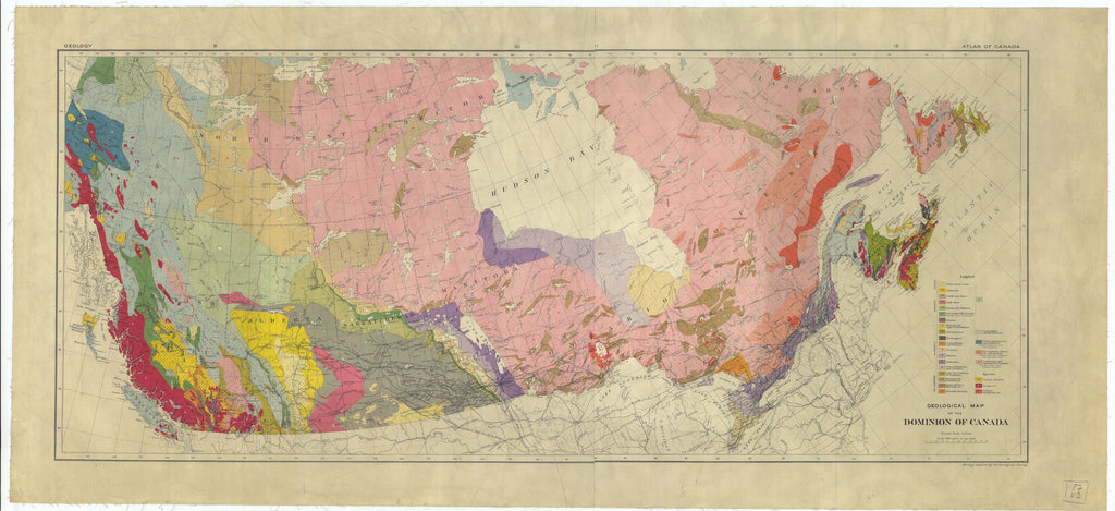 Dominion of Canada Geological Map