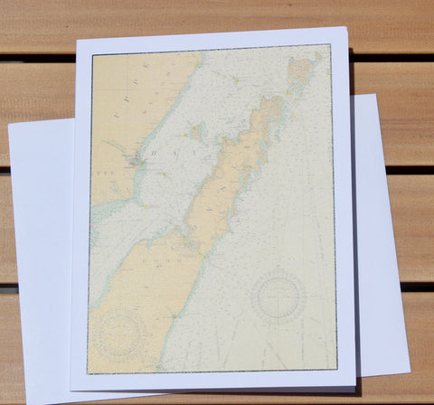 "Door County Map Notecards (1917) - 4.25""x5.5"""