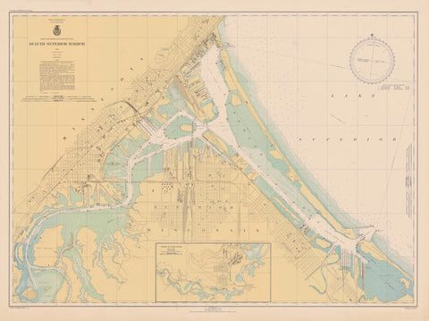 Duluth - Superior Harbor Map - 1943