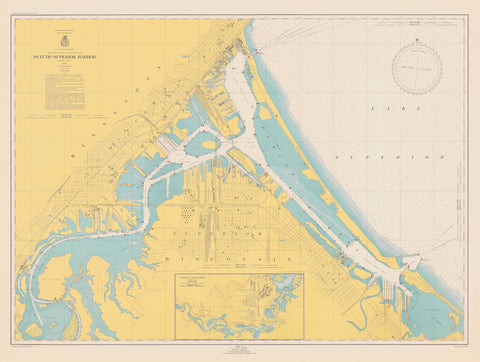 Duluth - Superior Harbor Map - 1948