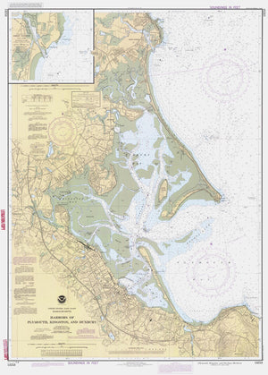 Duxbury, Kingston & Plymouth Harbors Map - 1988