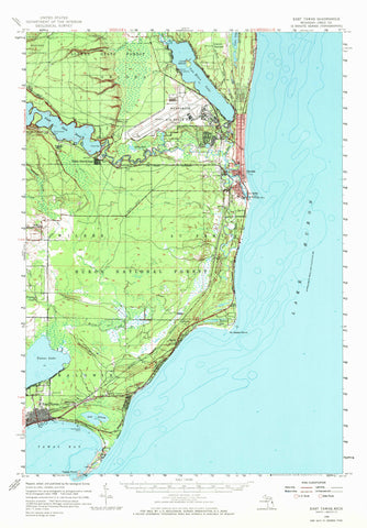 East Tawas Topographic Map - 1959