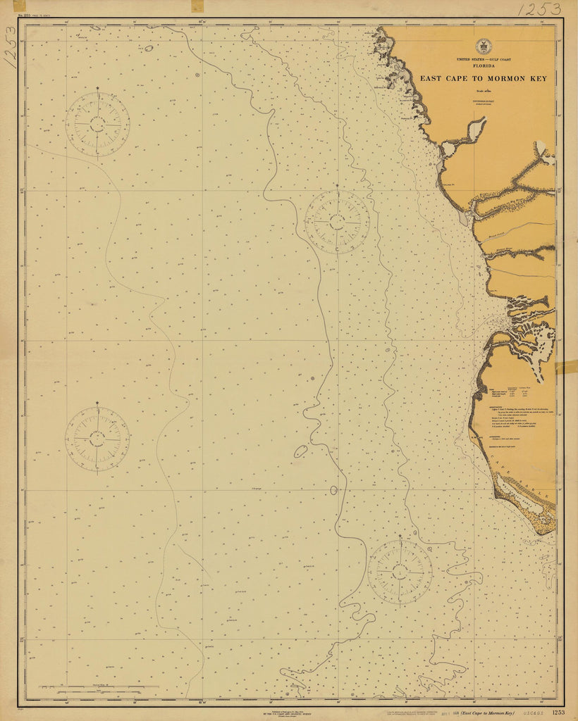 East Cape to Mormon Bay Map - 1924