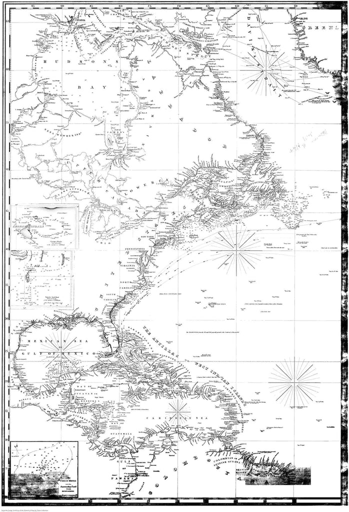 Caribbean and North America Historical Map