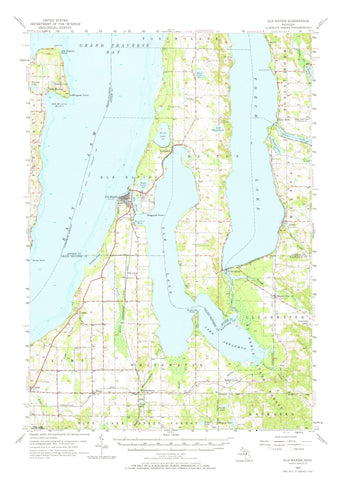 Elk Rapids Topographic Map - 1957