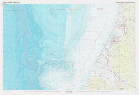 Eureka California Topographic - Bathymetric Map - 1987