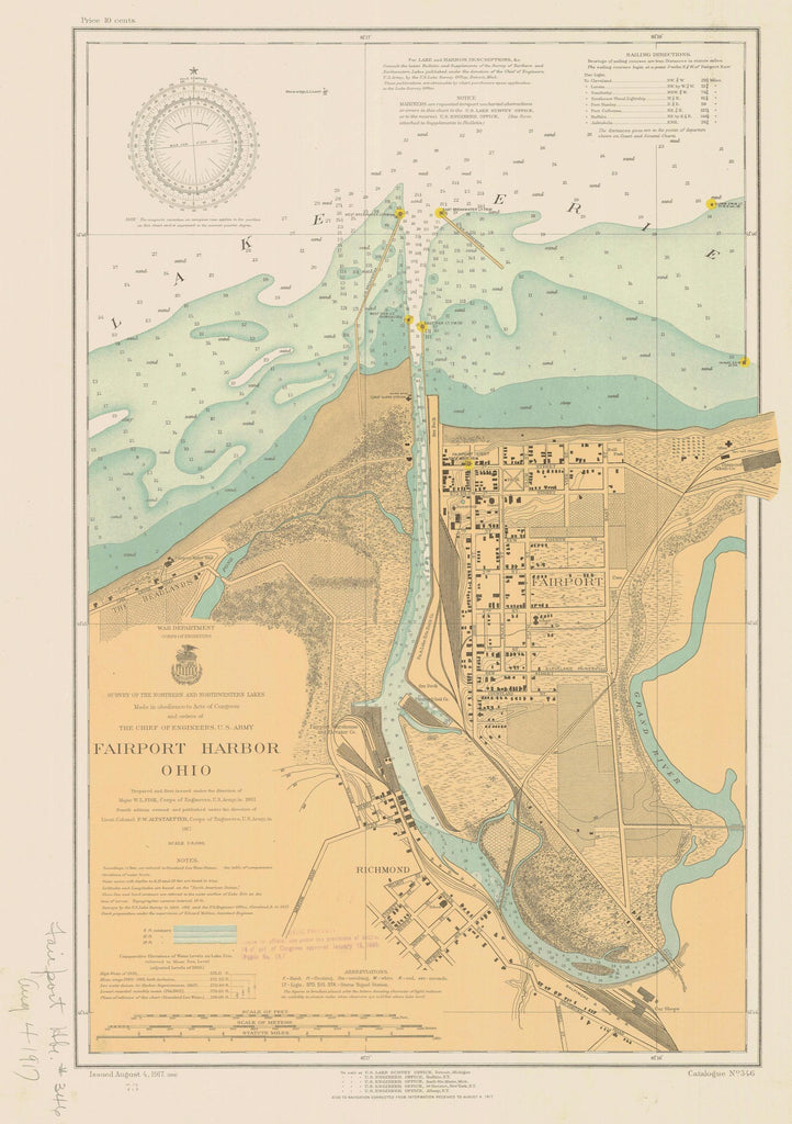 Fairport Harbor Map - 1917