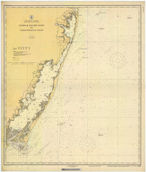 Fenwick Island Light to Chincoteague Inlet Map - 1920