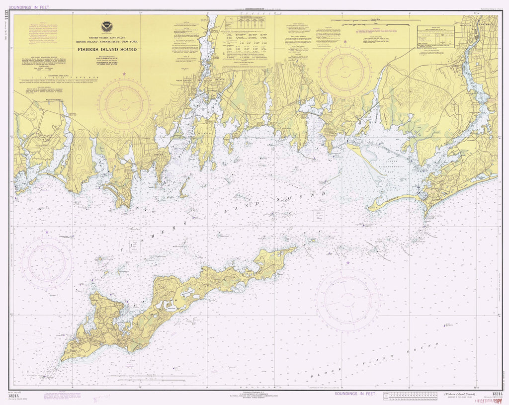 Fishers Island Historical Map 1977