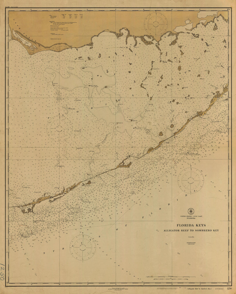 Florida Keys Map - 1921