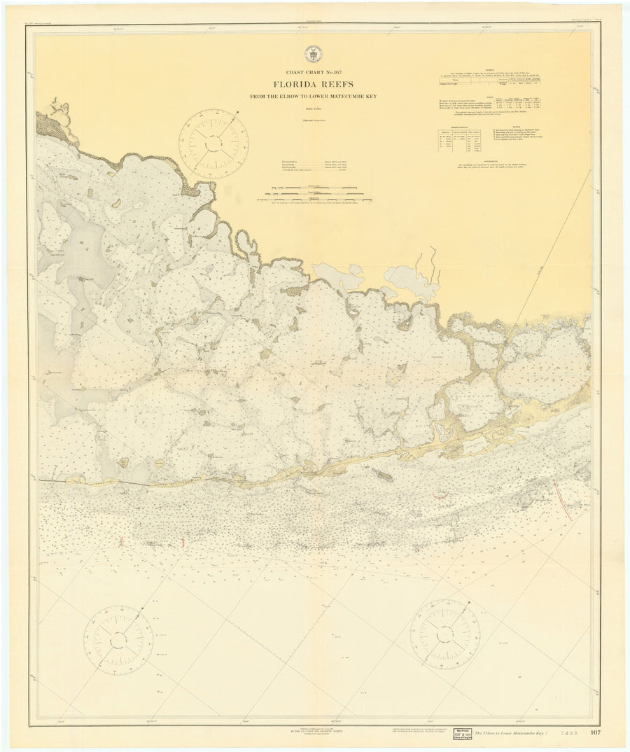 Florida Keys Map - 1919